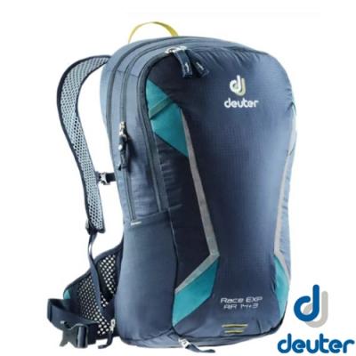 Deuter 新 Race EXP Air 14+3L 超輕全功能網架式透氣單車健行背包(附防雨罩)_深遂藍