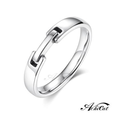 AchiCat結婚戒指真心相伴情侶925純銀銀戒尾戒