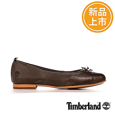 Timberland 女款咖啡色皮革Raw Lake休閒鞋