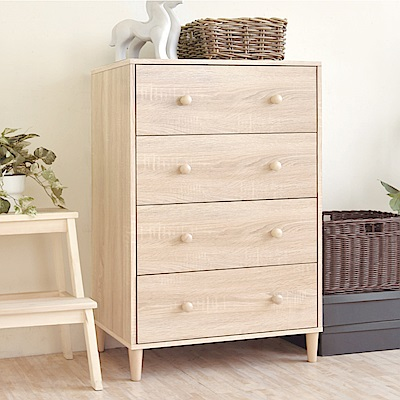 《HOPMA》DIY巧收和風實木腳四抽斗櫃-寬60.5 x深40.5 x高94cm