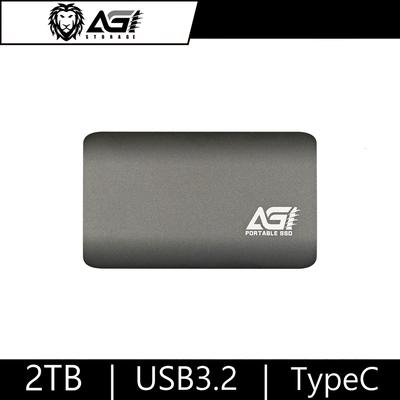 AGI 亞奇雷 2TB 外接SSD 攜帶式固態硬碟