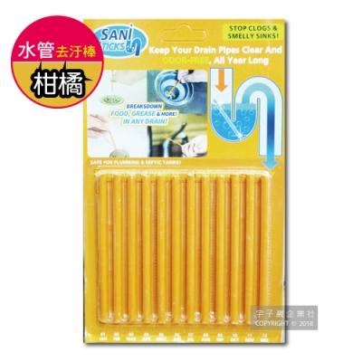 Sani Sticks 水管疏通清潔去汙棒-柑橘香味 12支/組