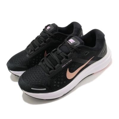 Nike 慢跑鞋 Zoom Structure 23 女鞋 氣墊 舒適 避震 路跑 健身 運動 黑 金 CZ6721005