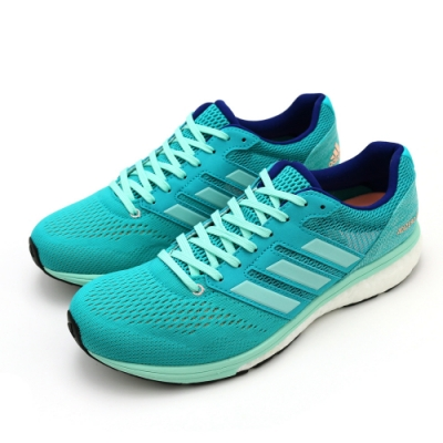 ADIDAS ADIZERO BOSTON 7 W 藍綠 女跑步鞋