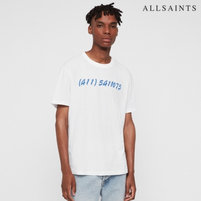 ALLSAINTS CALL 純棉LOGO印花短袖T恤