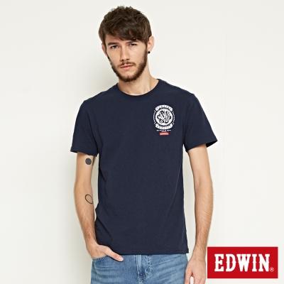 EDWIN RIDE NEVER STOP T恤-男-丈青