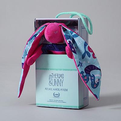 La Millou Velvet頂級棉柔系列-長耳安撫巾兔禮盒(舒柔桃)