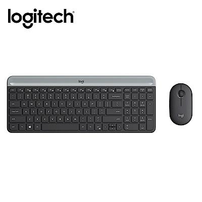 「6/25新品上市」羅技 MK470超薄無線鍵鼠組-石墨灰