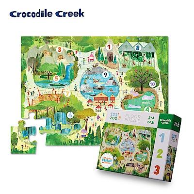 美國Crocodile Creek 幼兒認知互動學習拼圖-數字動物園
