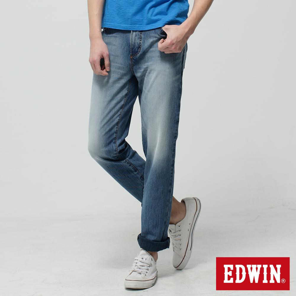EDWIN AB褲 迦績褲JERSEYS圓織牛仔褲-男-拔淺藍