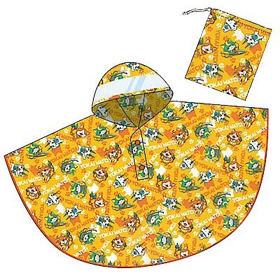 兒童斗篷雨衣。黃色   妖怪手錶