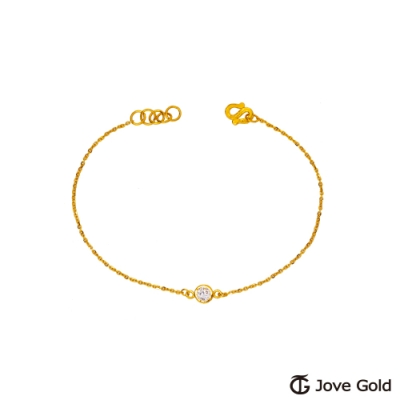 Jove Gold 漾金飾 戀人視角黃金手鍊
