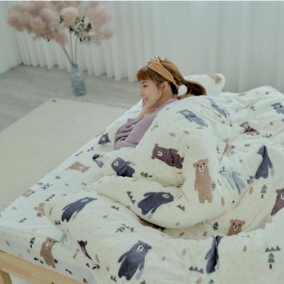 BUHO 極柔暖法蘭絨(6x7尺)標準雙人兩用被套毯(庫瑪歐巴)