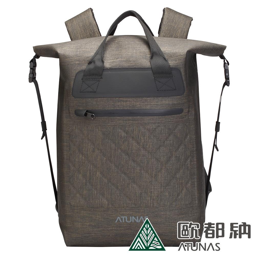 【ATUNAS 歐都納】潮流防水多功能後背包15L(A1BPAA10N黑金)