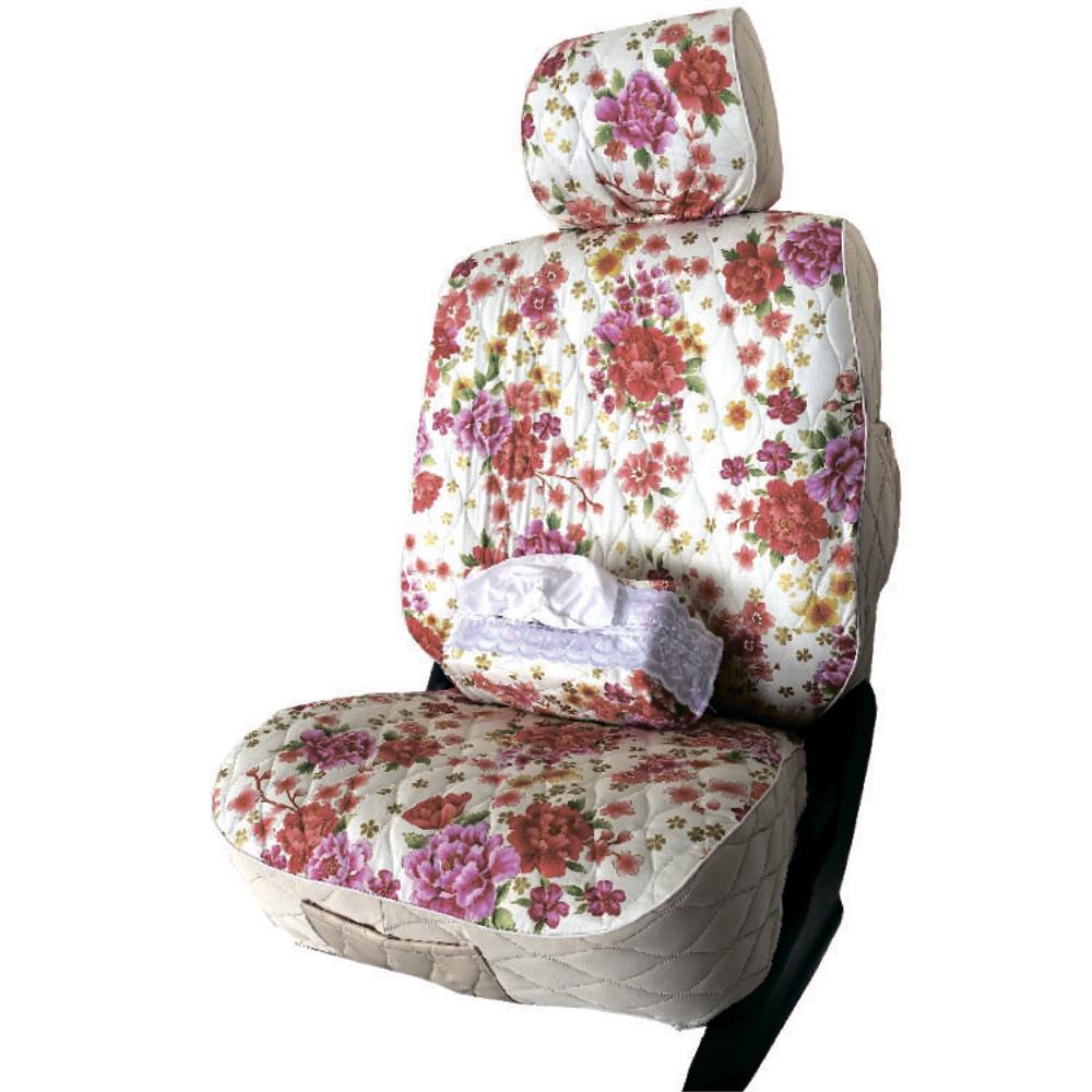 【葵花】量身訂做-汽車椅套-布料-花漾排汗B-休旅車-9人座款1-3排