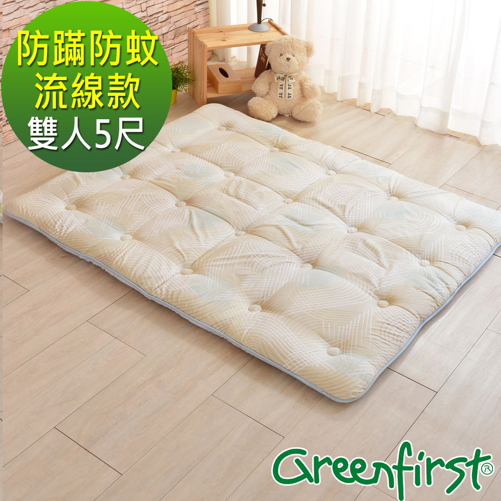 LooCa 防蹣x防蚊x釋壓超蓬鬆日式床墊-流線-雙人5尺