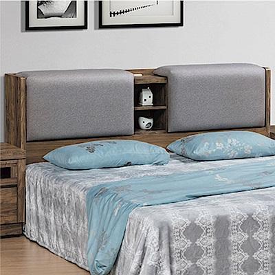 綠活居 邁可斯時尚5尺皮革雙人床頭箱(不含床底)-153x30x99cm免組