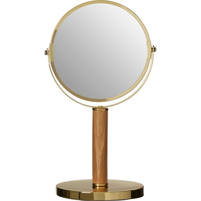 《Premier》Cassini雙面高腳桌鏡(金33cm)