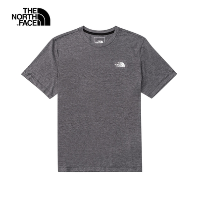 The North Face 男 FOUNDATION  短袖上衣 灰 - NF0A4UAMKS7