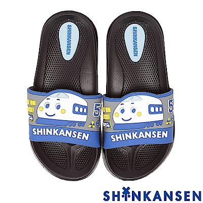 ShinKanSen新幹線 極輕量減壓室內外休閒拖鞋童鞋-黑