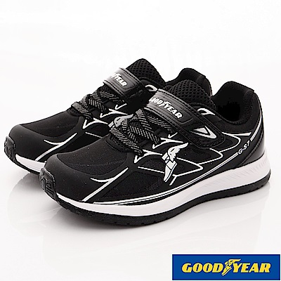 GOODYEAR戶外童鞋 舒適輕量運動鞋 EI8420黑(中大童段)