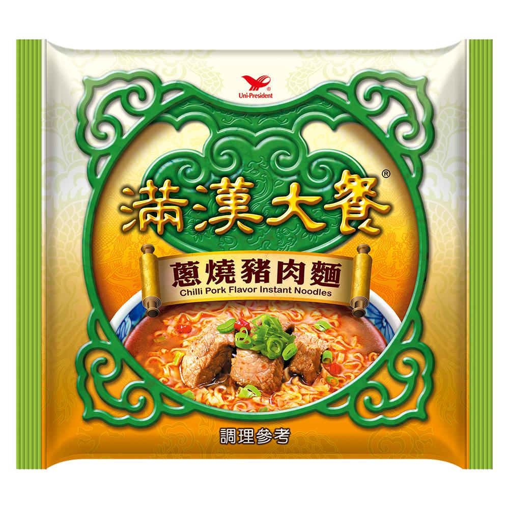 滿漢大餐 蔥燒豬肉麵袋裝(12入/箱)