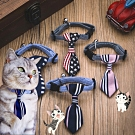 DYY》寵物用泰迪蝴蝶結英倫三角巾領帶領巾S號