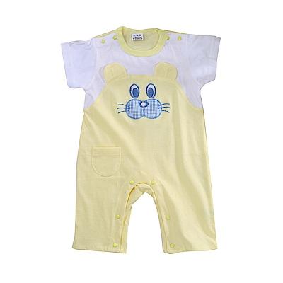 小熊短袖連身衣 k51094 魔法Baby