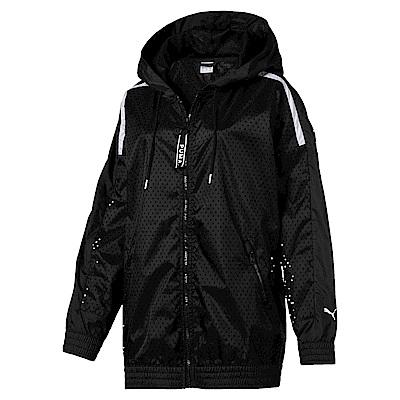 PUMA-女性流行系列Chase網布風衣外套-黑色-歐規