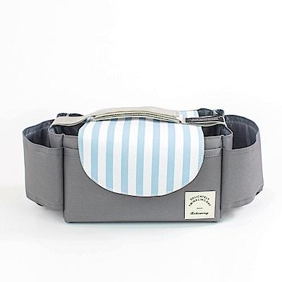 DF生活館 - 韓風多功能嬰兒推車掛袋-藍白直紋