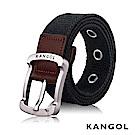 KANGOL EVOLUTION系列 英式潮流休閒針釦式皮帶- 黑色 KG1181