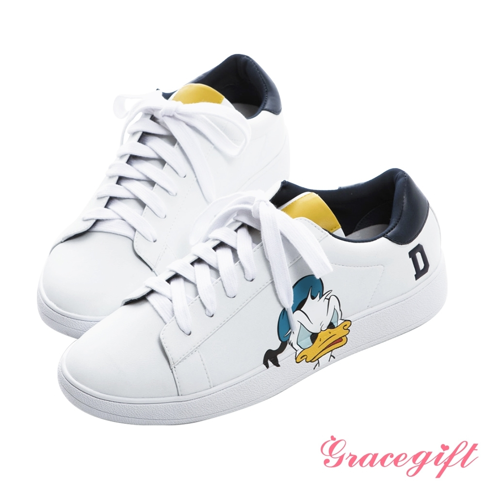 Disney collection by gracegift-迪士尼厭世唐老鴨綁帶休閒鞋 深藍