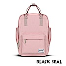 BLACK SEAL 聯名8848系列-多隔層休閒小方型後背包-櫻花粉BS83008