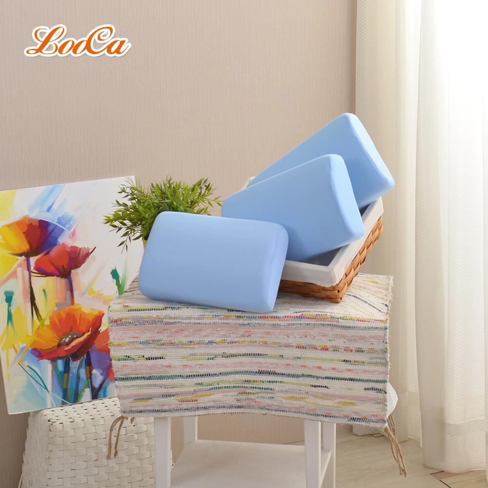 LooCa 釋壓記憶棉午安枕(吸濕排汗布套-可拆洗)藍