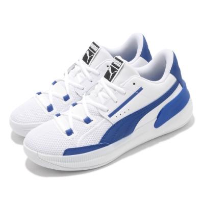 Puma 籃球鞋 Clyde Hardwood Team 男鞋 低筒 高抓地力 包覆 緩震 透氣 白 藍 19445405