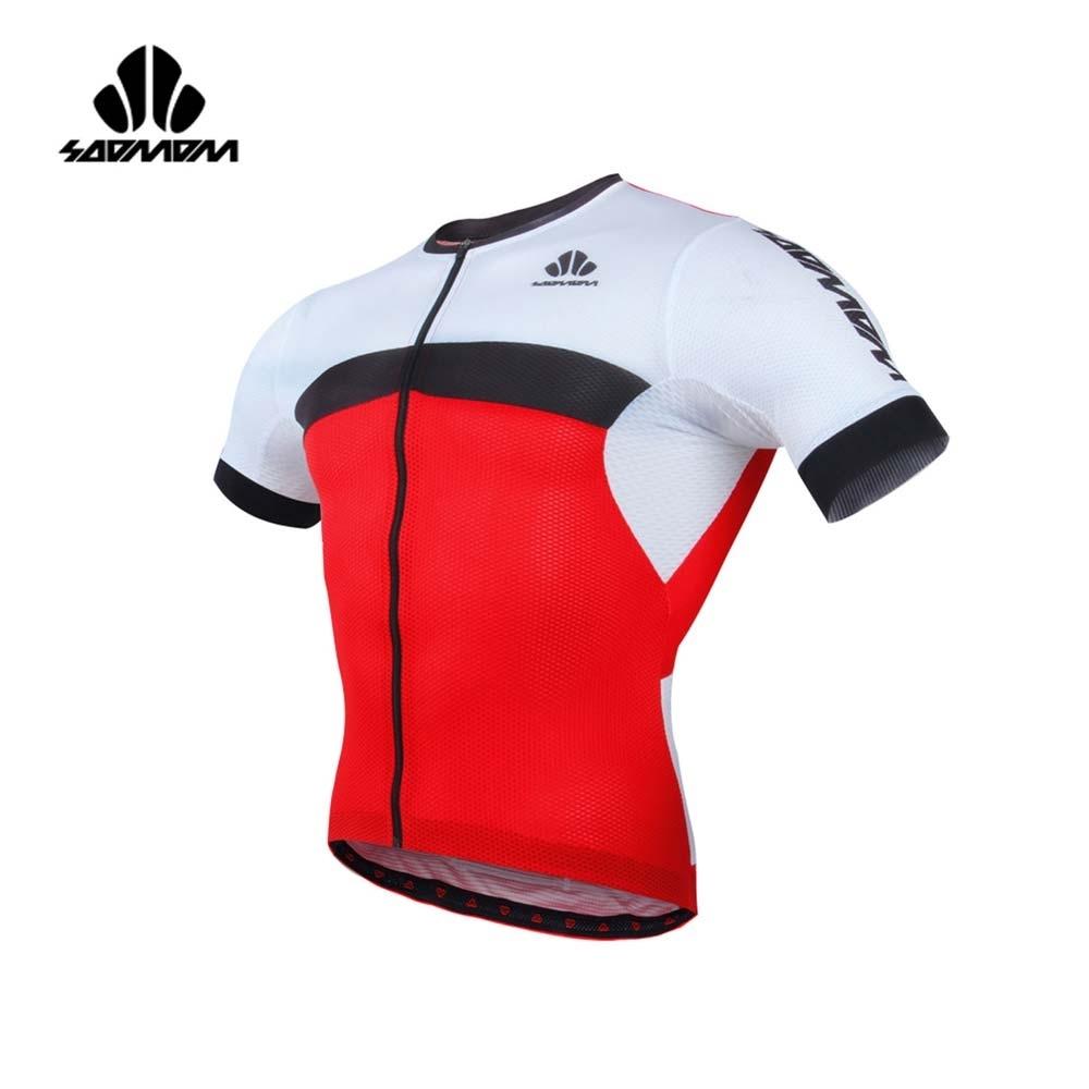 SOOMOM 男雷尼短車衣-自行車 速盟 紅黑白