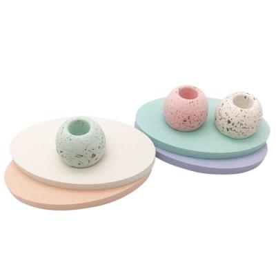 YOUFONE 超吸水速乾型珪藻土肥皂墊4入組(四色) 附珪藻土牙刷座墊