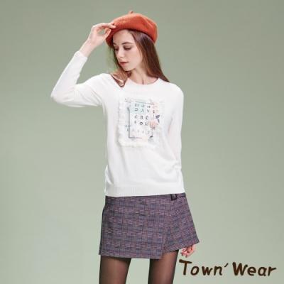 【TOWNWEAR棠葳】甜美花卉蕾絲針織上衣