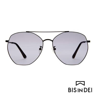 BIS IN DEI 雙槓飛行多角框太陽眼鏡-黑