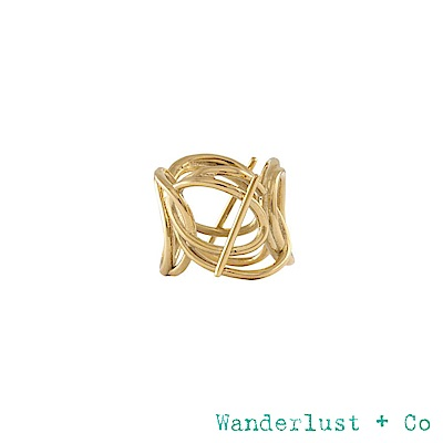 Wanderlust+Co INFUSION系列 多層次星軌鍍18K金戒指 戒圍7