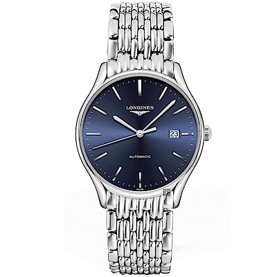 LONGINES 浪琴 Lyre 琴韻系列機械錶-藍x銀/38mm