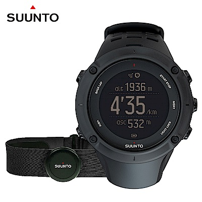 SUUNTO Ambit3 Peak Black HR 進階戶外探險與多項目運動GPS腕錶