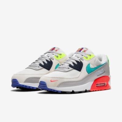 Nike 休閒鞋 Air Max 90 SE 運動 男鞋 氣墊 舒適 避震 簡約 球鞋 穿搭 灰 綠 DA5562001