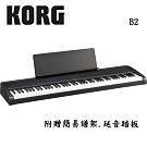 [無卡分期-12期] KORG B2 BK 88鍵數位電鋼琴 時尚黑色款