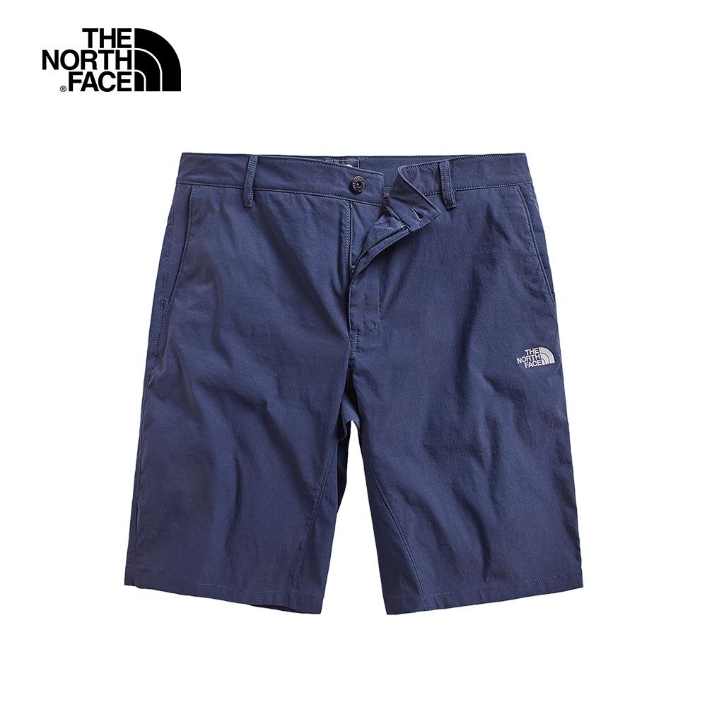 The North Face北面男款藍色防潑水短褲 3GDGH2G