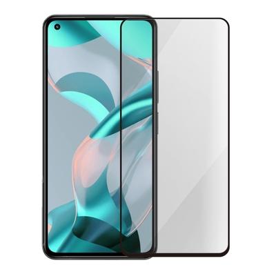 Metal-Slim 小米11 Lite 5G NE 全膠滿版9H鋼化玻璃貼-晶鑽黑