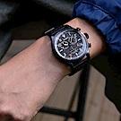 TIMEX xTODD SNYDER聯名限量Waterbury 雙眼計時腕錶-黑/42mm