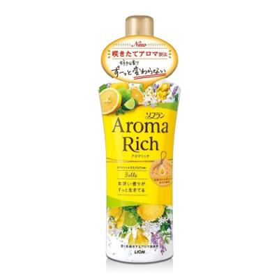 日本 Aroma Rich 衣物香氛柔軟精 520ml-黃色Belle