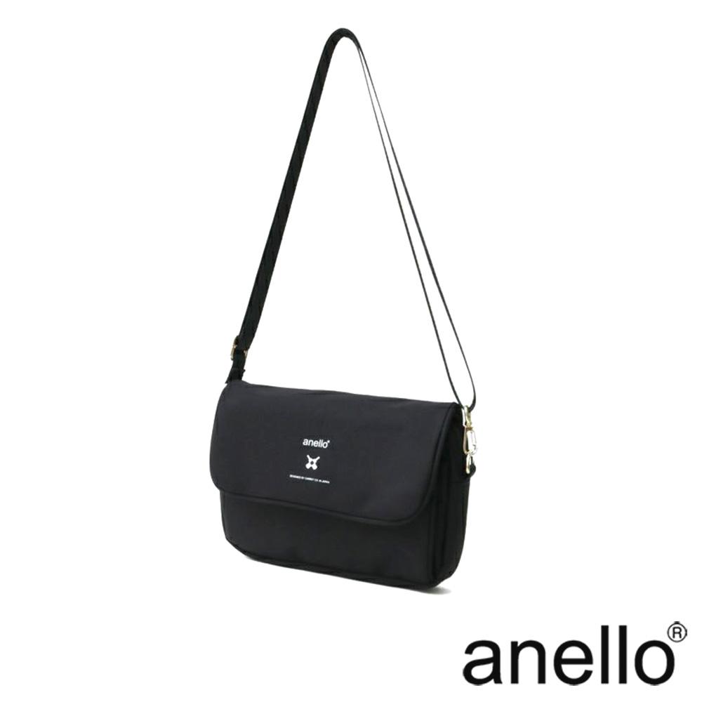 anello 實用高機能性防潑水斜背包 黑色