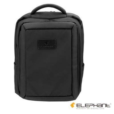 ELEPHANT 15吋多功能防水拉鍊筆電後背包(ELEBP004BK)